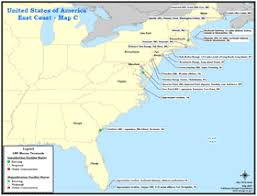 map of east coast states united states liquefied gas lng