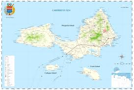 Map Caribbean Sea by Margarita Island Wikipedia