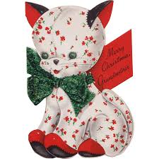 1949 hallmark coutts quilted kitten cat christmas card from