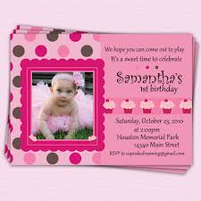 First Birthday Invitation Cards Templates Free Invitations For 1st Birthday