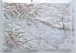 map of thermopolis wyoming thermopolis raised relief map from onlyglobes
