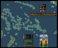 South Pacific Map Civilization 5 Scenario Paradise Found Map