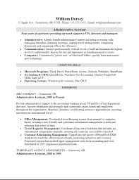 Office Assistant Resume Example by Free Professional Administrative Assistant Resume Template