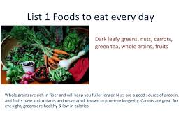 foods list for weight loss