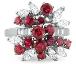 gaudy engagement rings ruby and marquise cluster 7 alternative style engagement