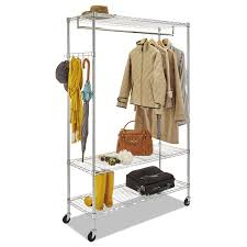Decorative Metal Garment Floor Rack by Alera Wire Shelving Garment Rack Ontimesupplies Com