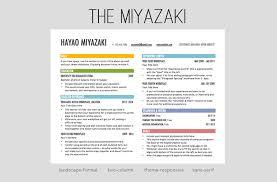 Two Column Resume The Miyazaki Resume Template Resume Design 2014 Word Bas U2026 Flickr