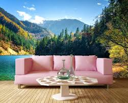 Living Room Wallpaper Scenery Luxury European Modern Landscape Water And Living Room Tv Wall