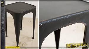 Chaise Industrielle Métal Noir Antique Déco Industrielle Tabouret Métal Style Industriel Rétro Coloris Noir Antique