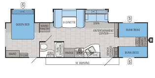 31qbds bedroom camper floor plans with bunk beds jay flight
