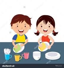 dishes kids clipart
