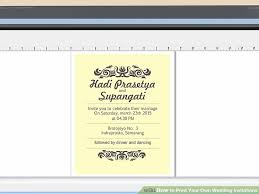 print your own wedding invitations 7 ways to print your own wedding invitations wikihow
