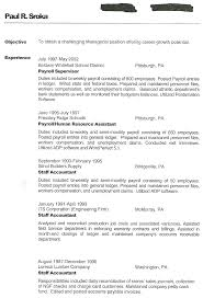 Staff Accountant Resume Example Interest For Resume Examples Free Resume Example And Writing