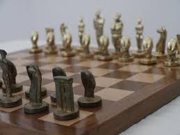 the aegean chess set in heavy brass modern art chess 0 1278