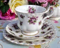 albert sweet violets vintage china teacup trio c 1966