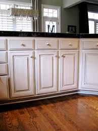 off white kitchen cabinets with chocolate glaze kitchen decoration