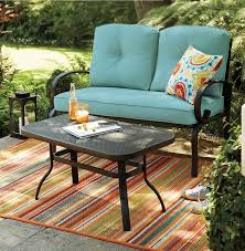 sonoma outdoor love seat and coffee table set outdoor bargains