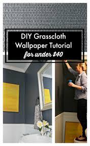 diy navy grasscloth wallpaper tutorial for under 40 southern