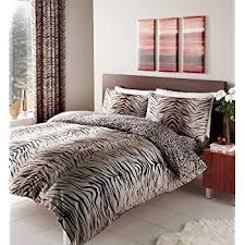 Leopard Print Duvet Leopard Print Duvet Cover Set Brown Size Double Amazon Co Uk