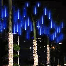 shooting star icicle lights 50cm multi color meteor tube shooting star rain string led christmas