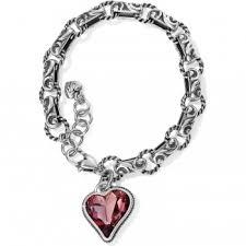 pink heart bracelet images Bibi heart bibi heart gem bracelet bracelets jpg