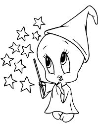 baby tweety witch coloring page looney tunes pinterest
