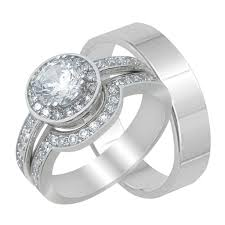 Price Of Wedding Rings by Wedding Rings Sterling Silver Matching Wedding Band Sets The Low