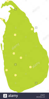 Map Icon Sri Lanka Green Map Icon Flat Style Stock Vector Art