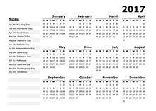 2017 us calendar printable 2017 year calendar template us holidays free printable templates