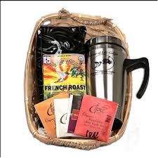 travel gift basket gourmet organic fair trade coffee and tea gift basket with