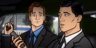 archer cartoon conan and archer fight off russian mobsters in epic car chase on