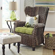 High Back Chairs For Living Room Living Room High Back Chair Wicker Graciosa Wing Chair Brown