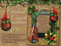 christmas concert invitation holiday music program christmas