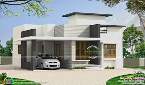 small budget flat roof house kerala home design floor plans