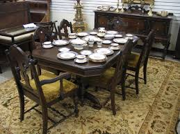 eight piece walnut dining set baker furniture co michigan c
