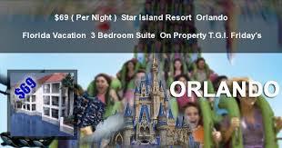 3 Bedroom Resort In Kissimmee Florida 69 Per Night Star Island Resort Orlando 3 Bedroom Suite