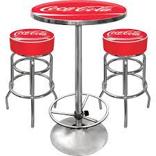 Coca Cola Patio Umbrella by Vintage Coca Cola Bar Table And Bar Stool Set Www Kotulas Com