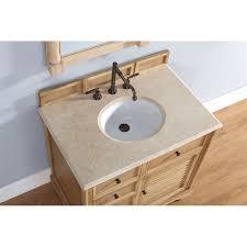 Savannah Vanity Savannah 36 Inch Bathroom Vanity Natural Oak Finish Beige Marble Top