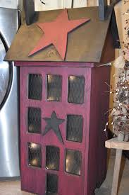 Trash House Primitive Wooden Trash Can With Lights The Rustic Saltbox Exclusive