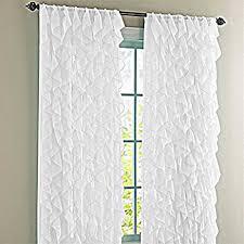 Sheer Ruffled Curtains Cascade Shabby Chic Sheer Ruffled Curtain Panel 95