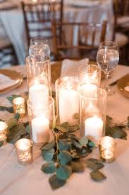 candle centerpieces s early mountain vineyard wedding