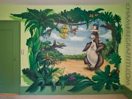 deco chambre bebe jungle jungle chambre graffiti
