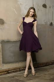 purple dresses for weddings knee length v neck ruched purple bridesmaid dresses wedding