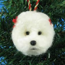 make a bichon frise felt ornament bichon finder