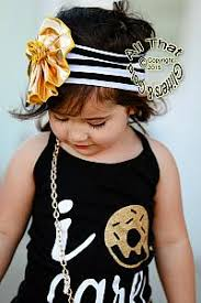 gold headbands black white gold striped big flower baby headbands