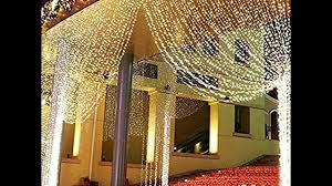 window curtain string lights icicle fairy lights party wedding