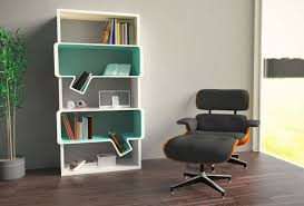 apartment bookshelf ideas background with colorful furniture