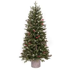 shop ge 4 5 ft pre lit frasier fir slim flocked artificial