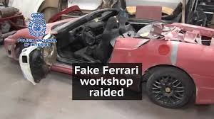 fake lamborghini for sale spanish police uncover fake ferraris and lamborghinis following