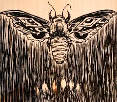 moth wood print city